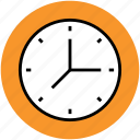 clock, timepiece, timer, wall clock, watch icon