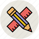 drawing, geometry tool, measuring tool, pencil, ruler, scale icon
