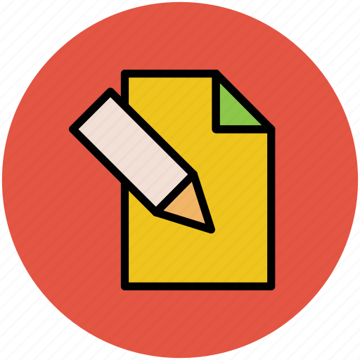 daybook, diary, education, paper, paper and pencil, pencil icon