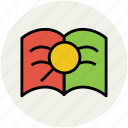 book, encyclopedia, magnifier, magnifying, reading, search icon