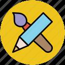 designing, drawing, education, paintbrush, painting, pencil icon