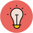 bulb, bulb on, electric, electric light, light, lightbulb icon