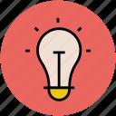 bulb, bulb on, electric, electric light, light, lightbulb icon