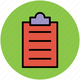 clip paper, clipboard, document, paper, sheet, text document icon