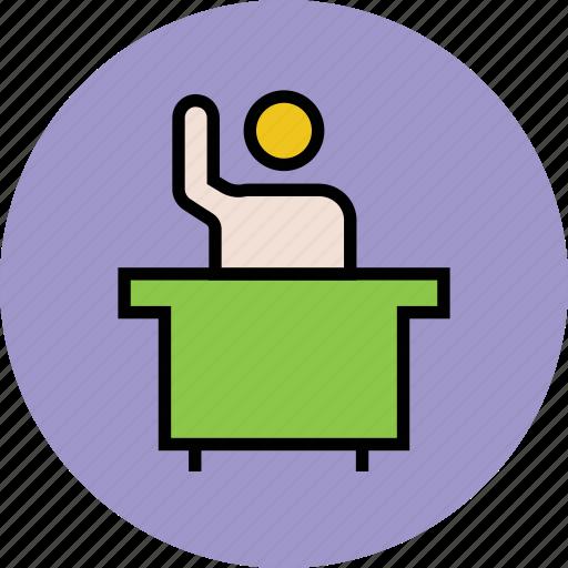 classroom, education, lecturer, presentation, school, teacher icon