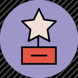 award, champion, prize, reward, star award, winner icon