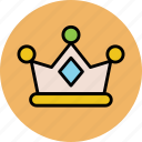crown, headgear, king crown, kingdom, queen crown, royal crown icon