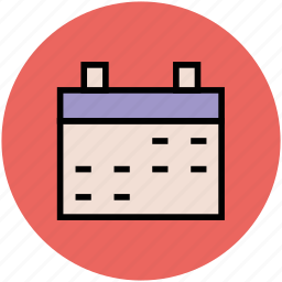 calendar, date, day, event, schedule, time scale, time-frame, yearbook icon