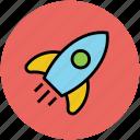 aircraft, missile, rocket, spacecraft, spaceship icon