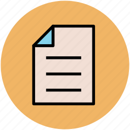 document, office doc, paper, text document, text sheet icon