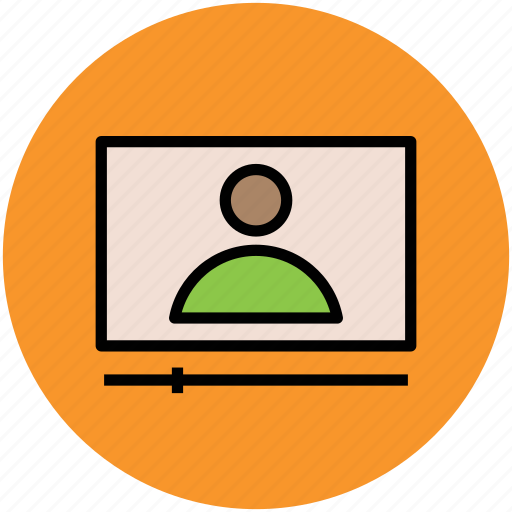 conversation, screen, video call, video chatting, video conference, video lecture icon