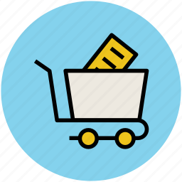 cart, shopping, shopping cart, stationary cart, trolley icon