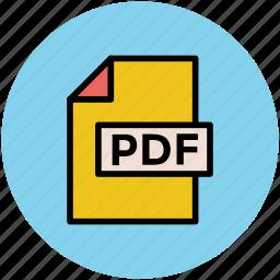 file, online documents, pdf, pdf file, portable document icon