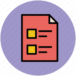 checklist, documents, file, list, task sheet icon