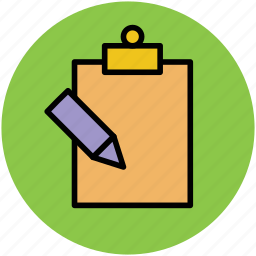 appointment, clipboard, documents, notes, pencil, writing icon