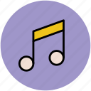 music node, music note, music symbol, musical note, note, quaver icon