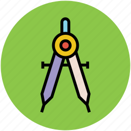compass, divider, drafting, drawing, geometry, geometry compass, geometry equipment icon