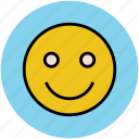 emoticons, happy face, happy smiley, smiley, smiley face icon