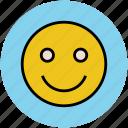 emoticons, happy face, happy smiley, smiley, smiley face icon