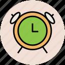 alarm, alarmclock, clock, time, timepiece, timer icon