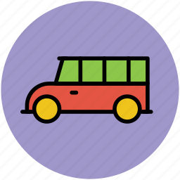 autobus, coach, school van, transport, transportation, van, vehicle icon