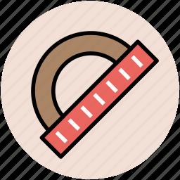 geometry, geometry protractor, geometry tool, protractor icon