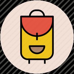 backpack, bag, baggage, bookbag, school bag icon