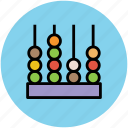 abacus, calculate, calculation, counting beads, counting frame icon