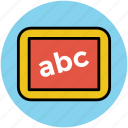 alphabetics chart, alphabets, basic education, early education, english, english class icon