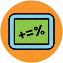 accounting, calculation, math symbol, mathematics, maths icon