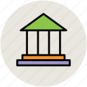 building, court, institute, law, real estate, school building icon