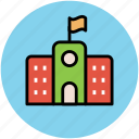 building, educational institute, real estate, school, school building icon