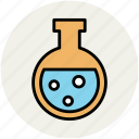 amperes tube, lab equipment, lab flask, testing tube, volumetric flask icon