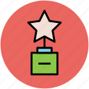 prize, star trophy, trophy, winning prize icon