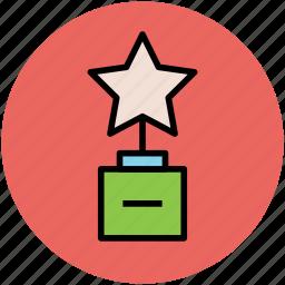 prize, star trophy, trophy, winning prize icon