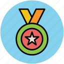 award medal, medal, prize, reward, star medal, winning medal icon