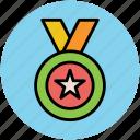 award medal, medal, prize, reward, star medal, winning medal icon