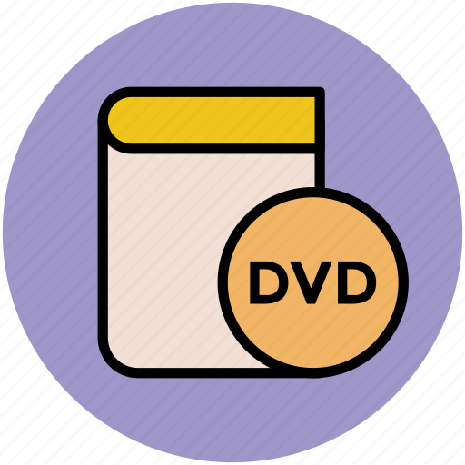 book, dvd, dvd book, education, learning book, learning dvd icon