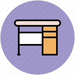 computer table, furniture, study desk, study table, workstation icon