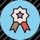 award badge, badge, reward, ribbon badge, star badge, winner icon