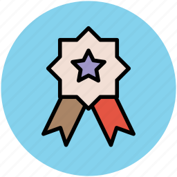 award badge, badge, reward, ribbon badge, star badge, winner icon