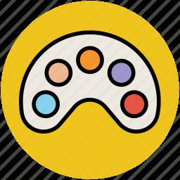 artist, paint color, paint palette, painting, paints, palette icon