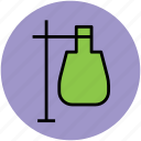 flask, lab equipment, lab flask, tube holder, volumetric flask icon