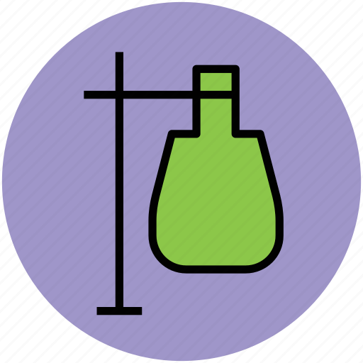 flask, lab equipment, lab flask, tube holder, volumetric flask icon