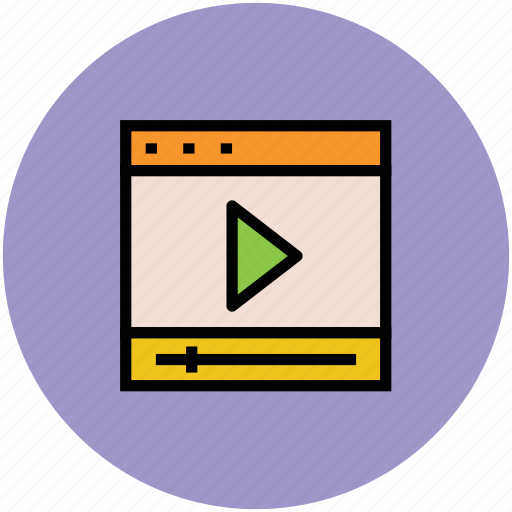 media, multimedia, play sign, video player icon
