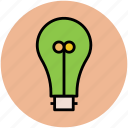 bulb, bulb on, electric light, electricity, light, light bulb icon