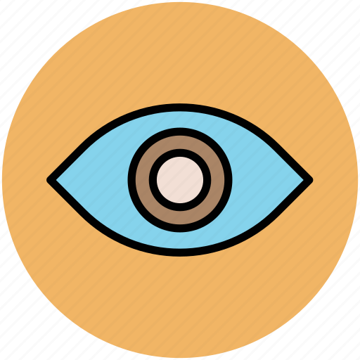 eye, retina, see, view, visibility, visible icon