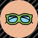 eyeglasses, eyewear, shades, specs, spectacles, sunglasses icon