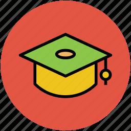 academic, bachelor, education symbol, graduation, graduation cap, graduation hat, mortarboard icon