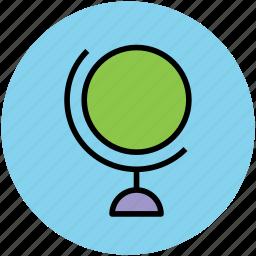 celestial globe, desk globe, earth, globe, table globe, terrestrial globe icon